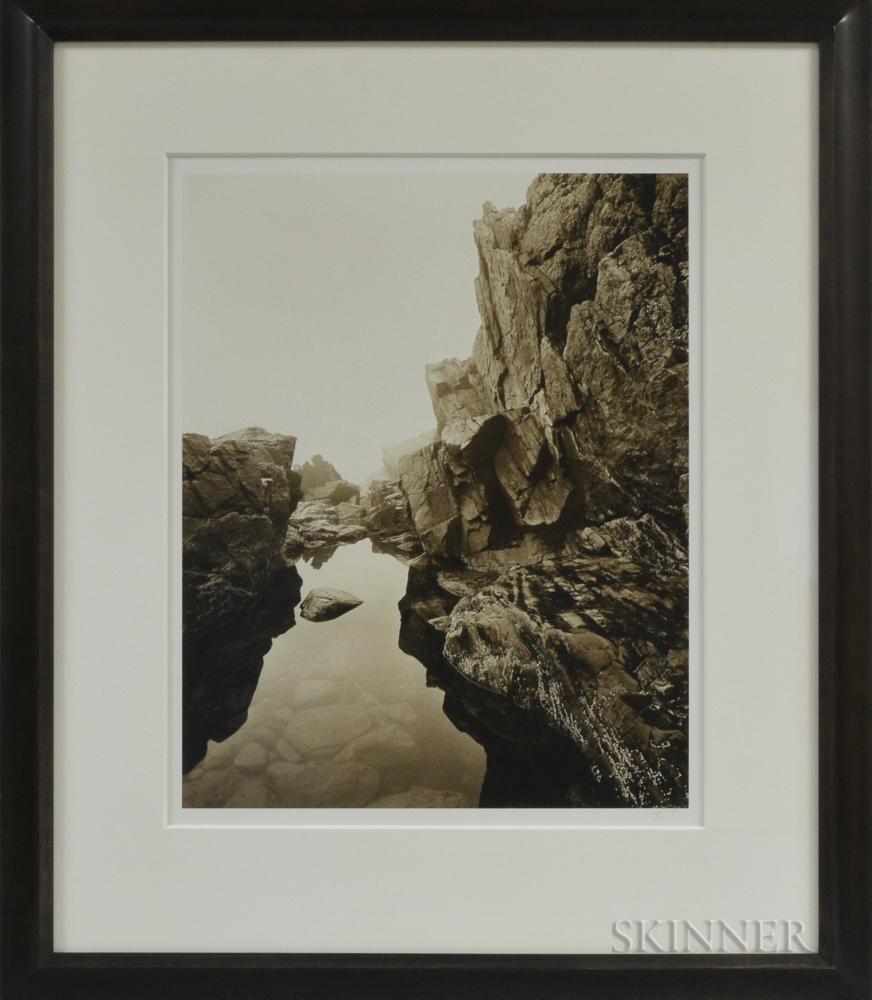 Carl Hyatt (American, 20th/21st Century)      Rocks and Tidepool, New Hampshire