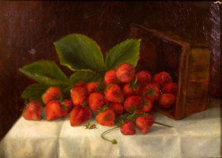 American School, 19th Century    A Quart of Strawberries