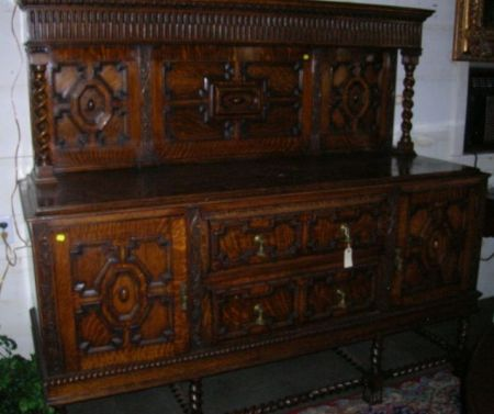 Jacobean-style Carved Oak Sideboard