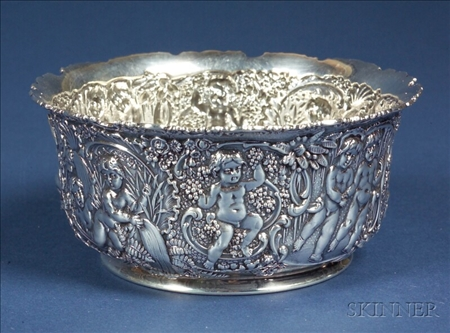 Tiffany & Co. Sterling Repousse Side Bowl