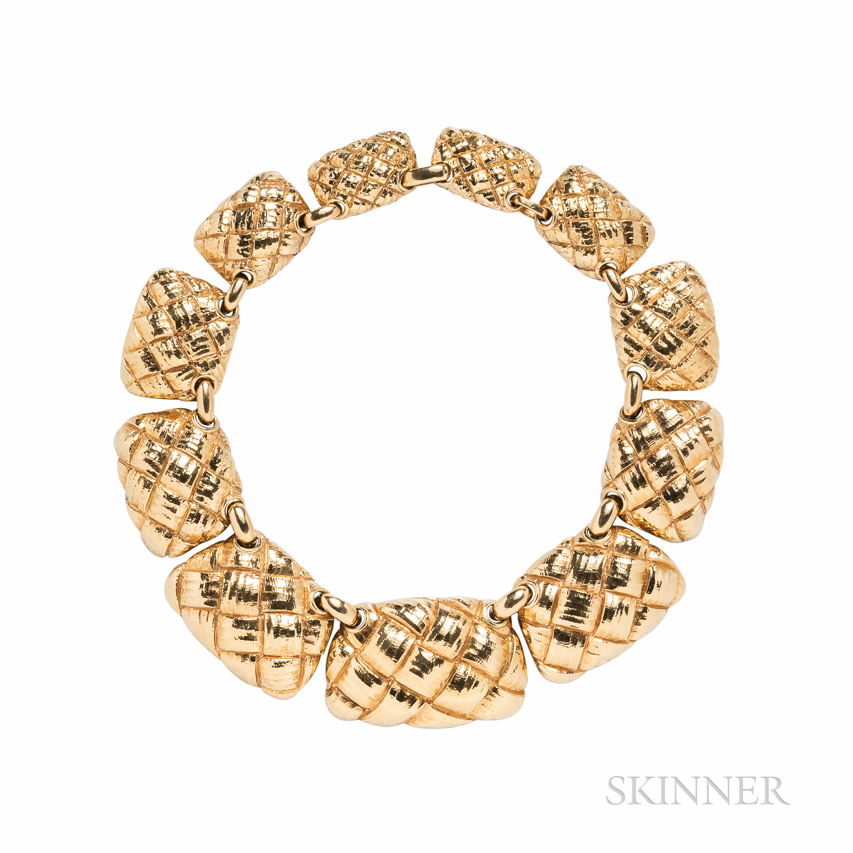 David Webb 18kt Gold Necklace