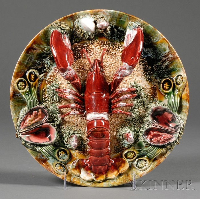 Palissy-style Majolica Lobster Wall Plaque