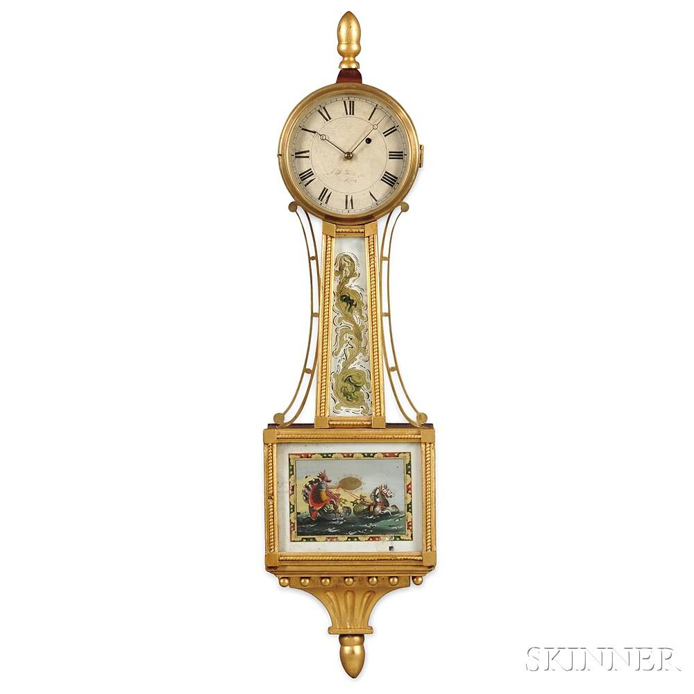 "Alfred H. Huntington Patent Timepiece or ""Banjo"" Clock"