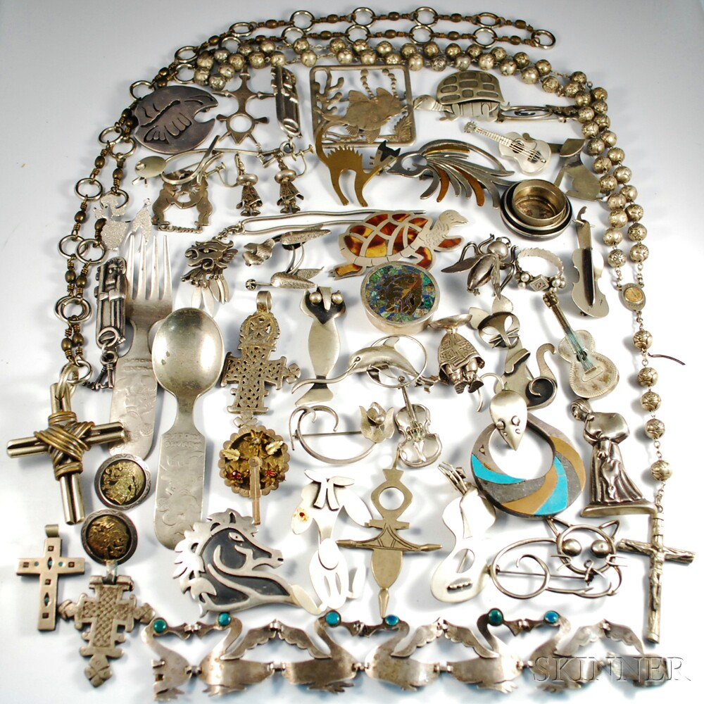 Mexican and American Sterling Silver Jewelry and Accessories