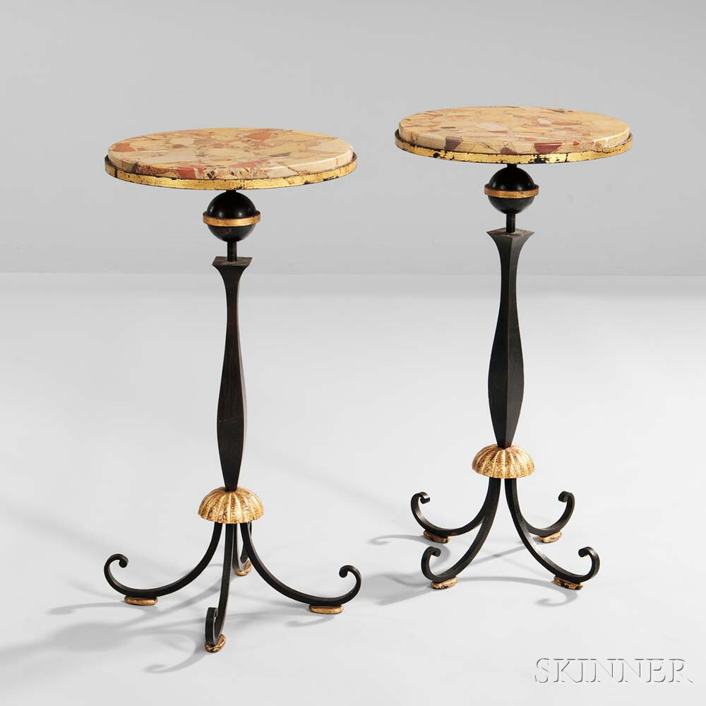 Two Gilbert Poillerat Occasional Tables