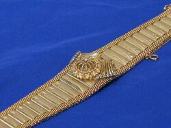 Diamond and 14kt Gold Covered Wristwatch