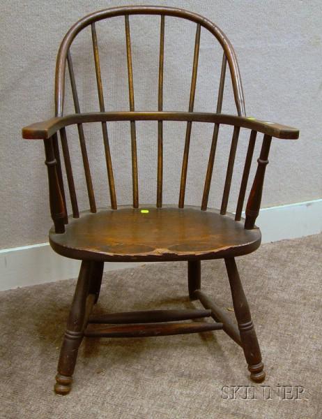Windsor-style Oak Sack-back Armchair.