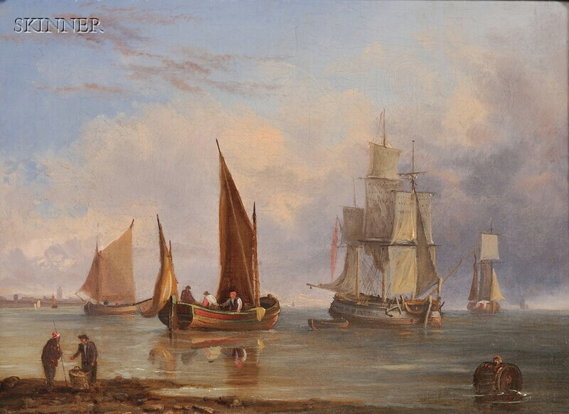 John Westall (British, fl. 1840-1880)      Ships in Port