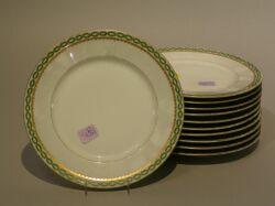 Set of Eleven Limoges Porcelain Luncheon Plates.