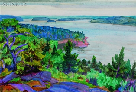 Carl Gordon Cutler (American, 1873-1945)    Deep Cove from the Artist's Cottage