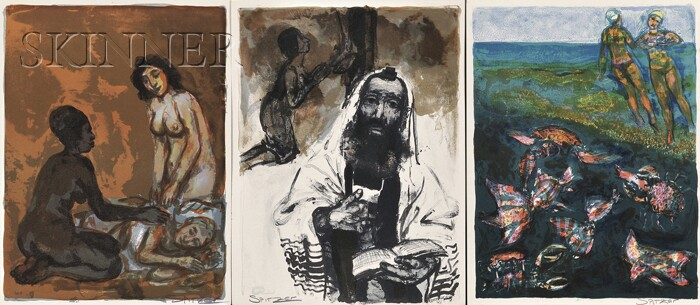 Walter Spitzer (Polish, b. 1927)      Lot of Twenty Images   from L'OEUVRE ROMANESQUE