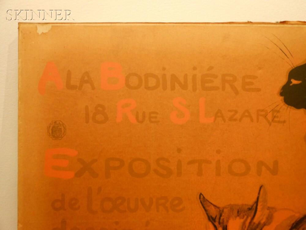 Théophile Alexandre Steinlen (French/Swiss, 1859-1923)      Exposition à la bodinière