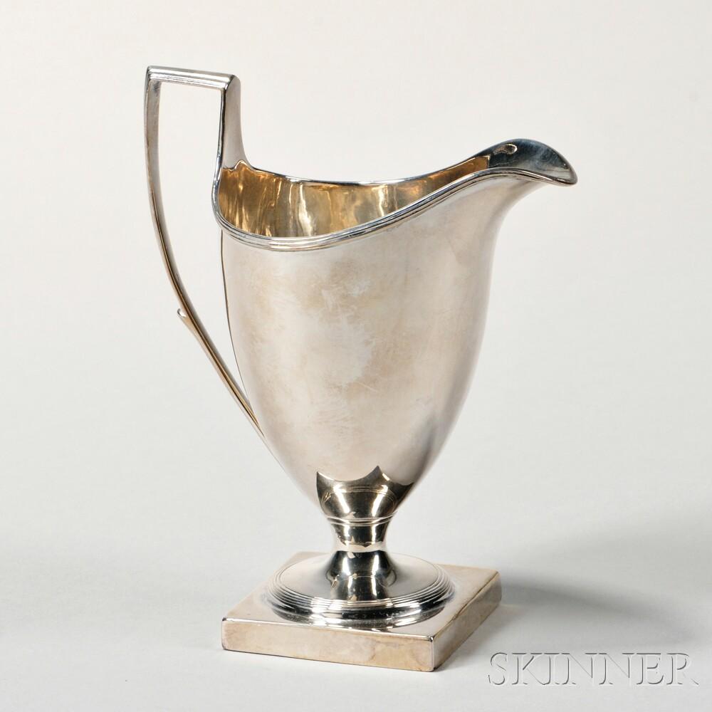 George III Sterling Silver Helmet-form Creamer
