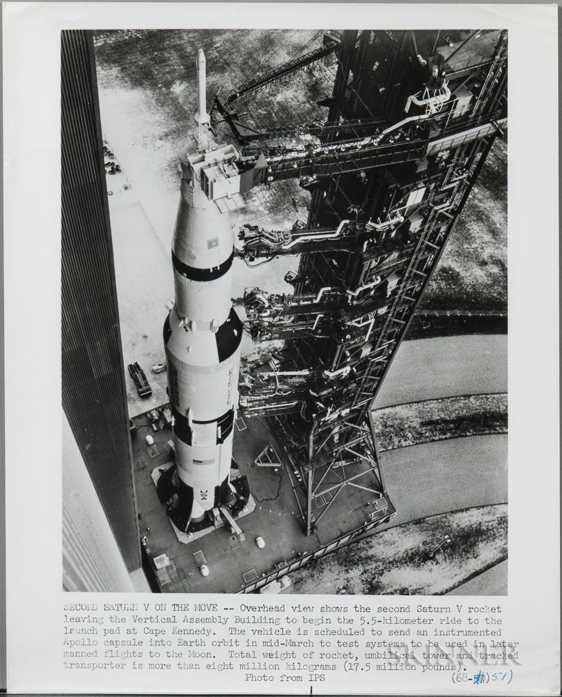 Apollo 8/Saturn V on Pad, Kennedy Space Center, Florida, December 1968, Three Photographs.