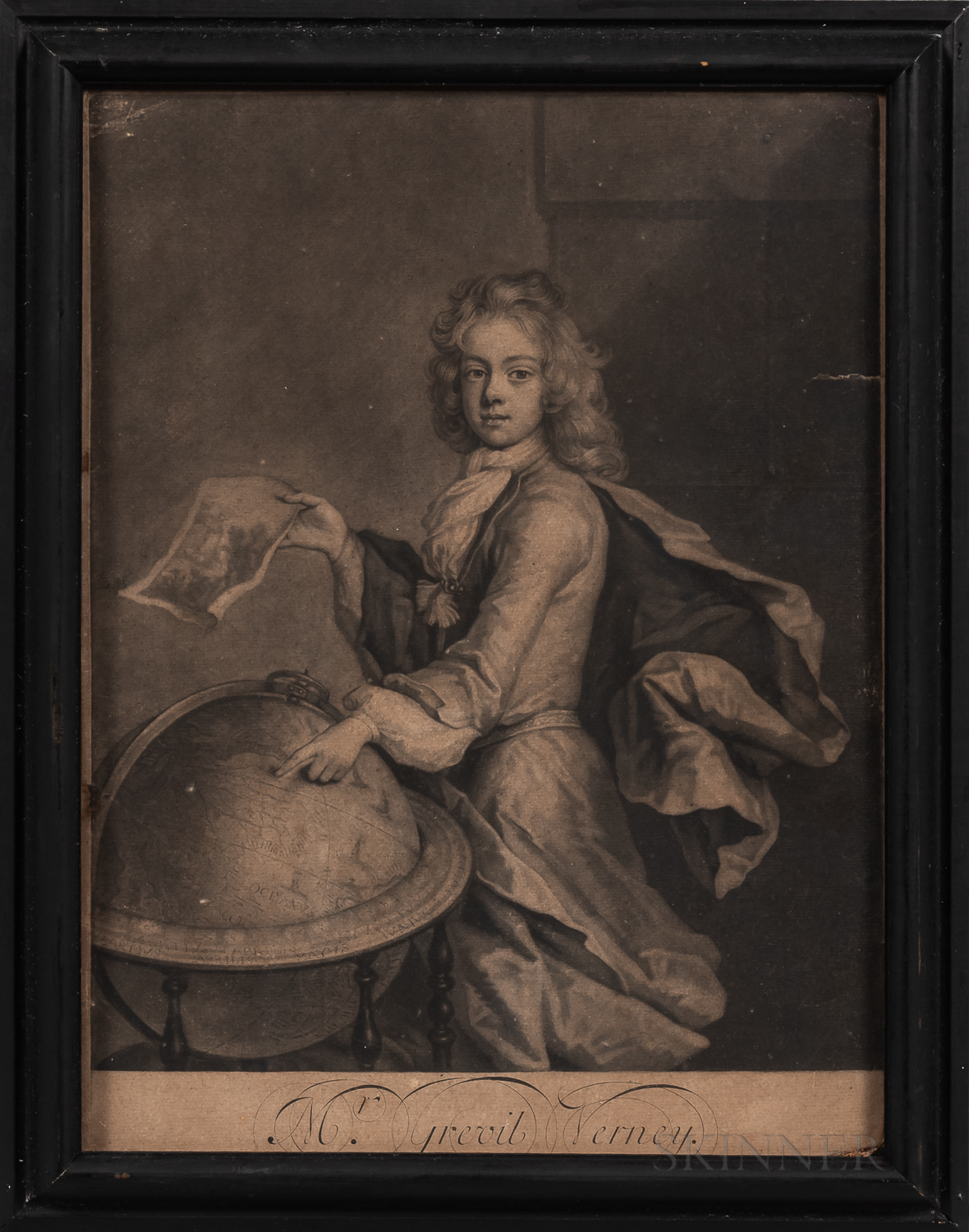 European School, 17th and 18th Century      Four Framed Prints of Noblemen.