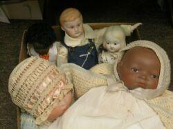 Five Bisque Dolls