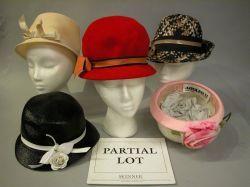 Group of Eight Mid 20th Century Ladys Hats and Two Purses.