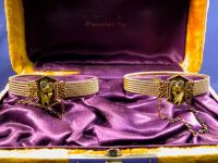 Pair of Antique 14kt Tri-color Gold Bracelets