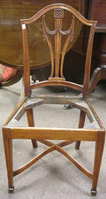 Louis XVI Style Beechwood Side Chair.