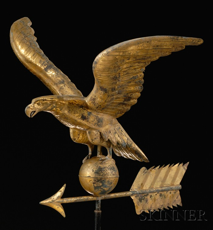 Molded and Gilded Sheet Copper Eagle Weather Vane