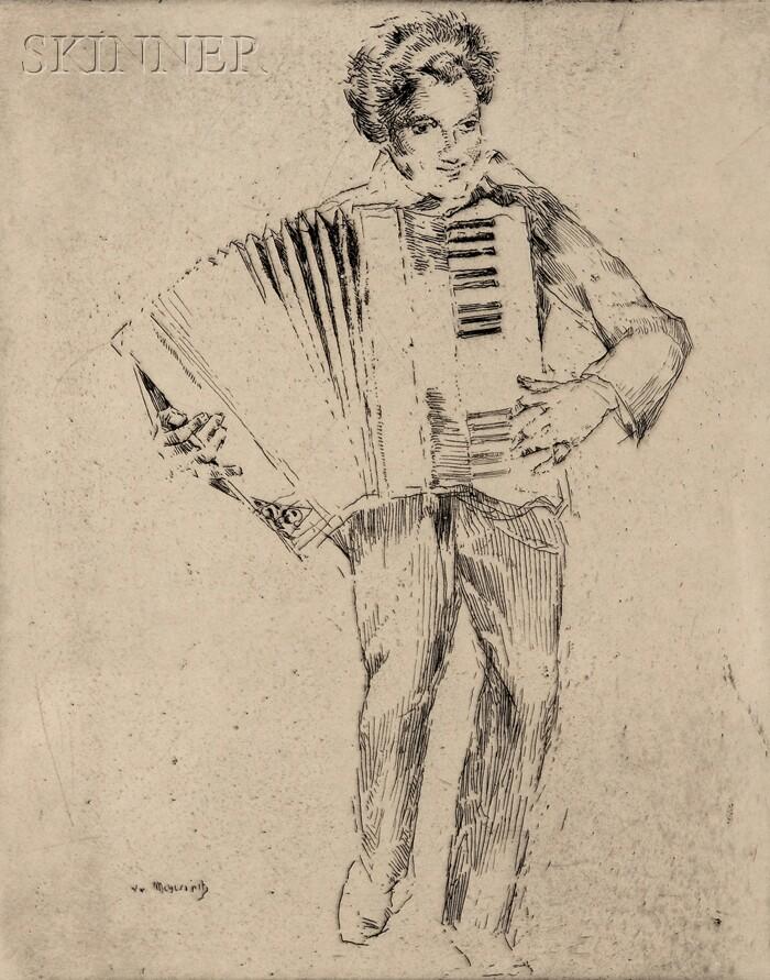 William Meyerowitz (American, 1887-1981)      The Accordionist.
