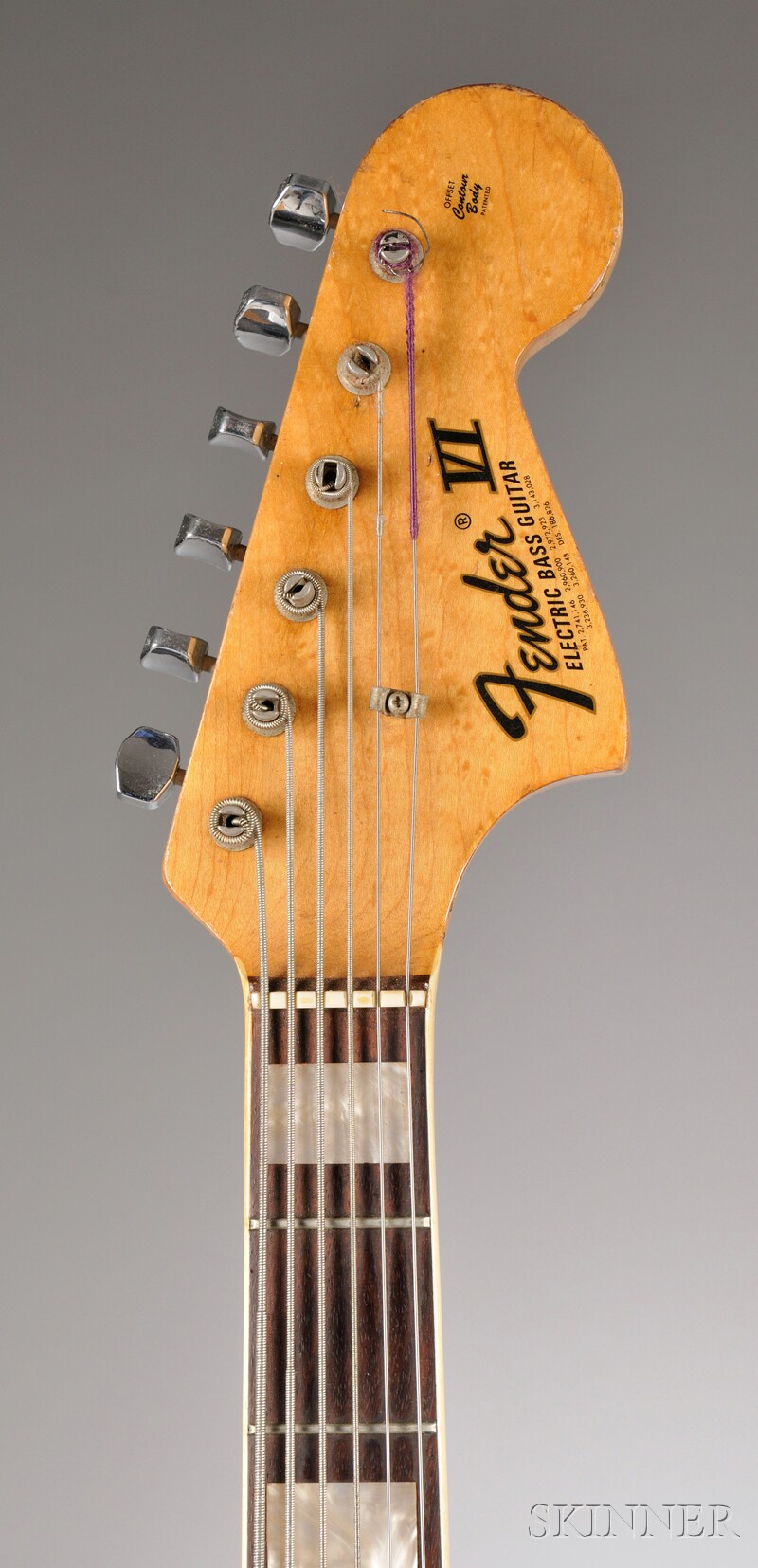 American Electric Bass Guitar, Fender Musical Instruments, Fullerton, c. 1974, Style   Bass VI