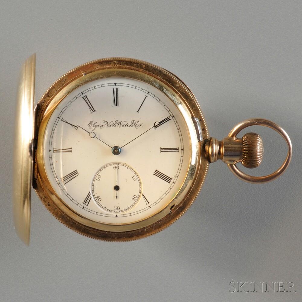 Elgin 18kt Gold Hunting Case Watch