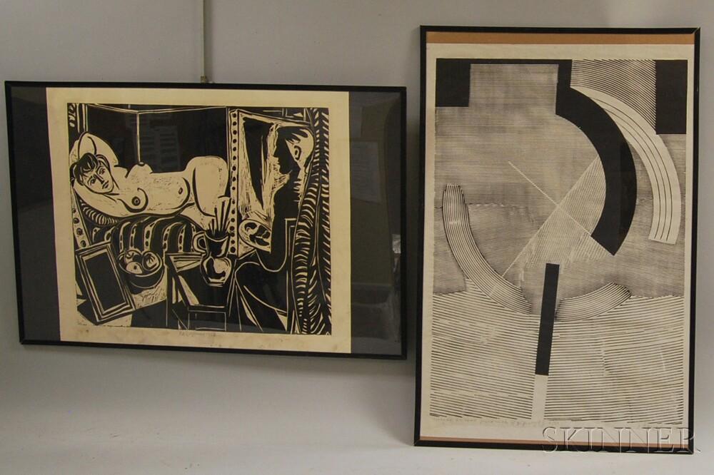 Two Modern Czech Prints