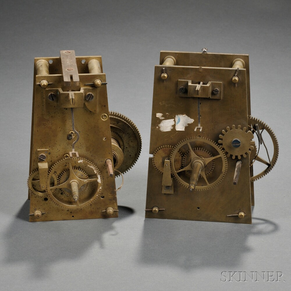 Two E. Howard Eight-day Wall Clock Movements