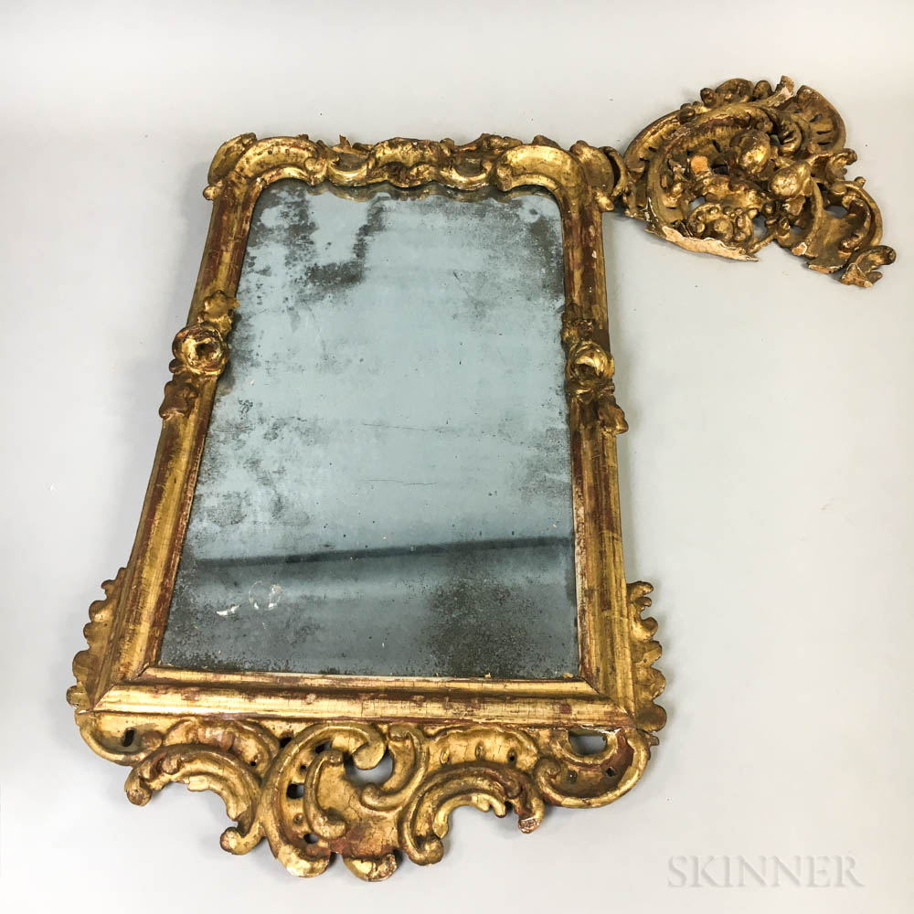 Rococo Carved and Gilt Mirror