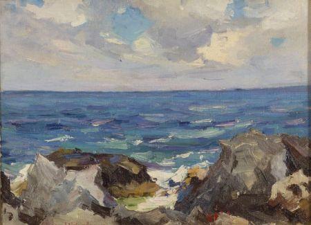 Stanley Wingate Woodward (American, 1890-1970) Waves