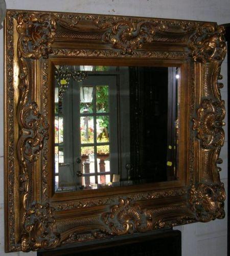 Rococo-style Gilt-gesso Mirror