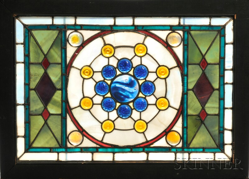 Mosaic Glass Window Attributed to John LaFarge (American, 1835-1910)