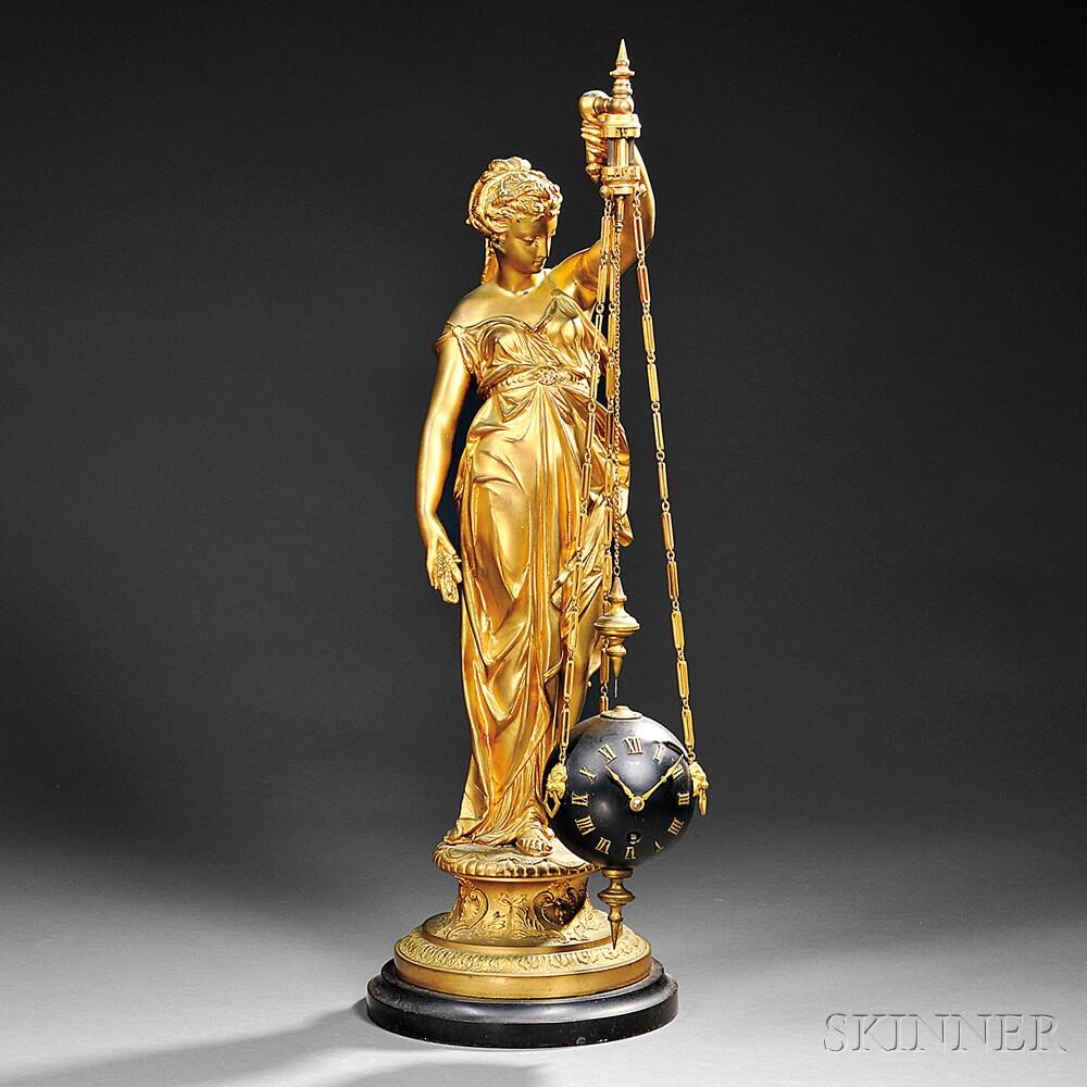 Ceres Figural Conical Pendulum Mystery Clock