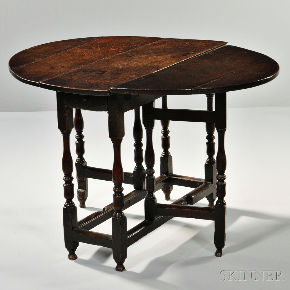 William and Mary Oak Gate-leg Table