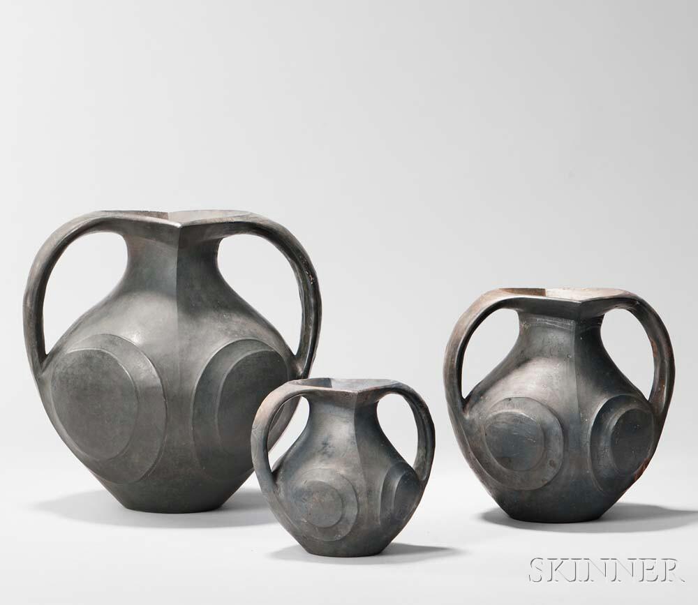 Three Sichuan Pottery Amphoras