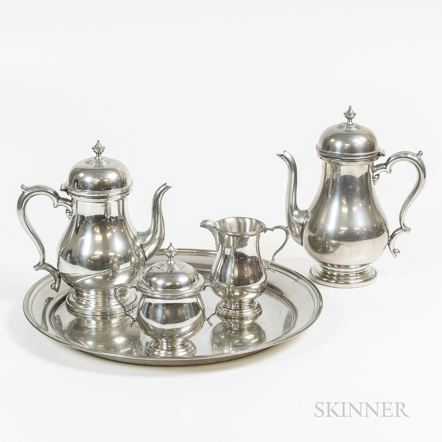 Boardman & Company Pewter Tea and Coffee Service