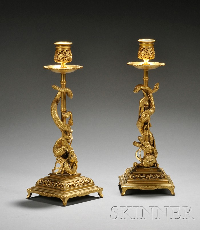 F. Barbedienne (1810-1892) Candlesticks