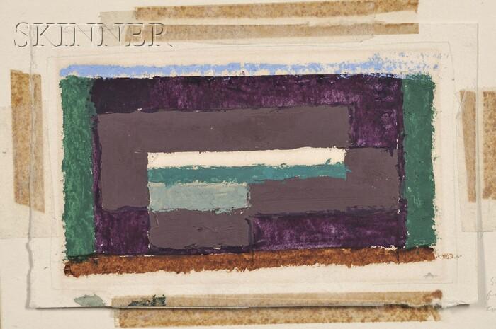 Josef Albers (German, 1888-1976)      Grüne Erde / Sketch for a Composition