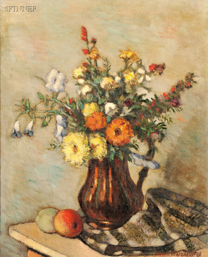 Simka Simkhovitch (Russian/American, 1893-1949)      Flowers and Peaches