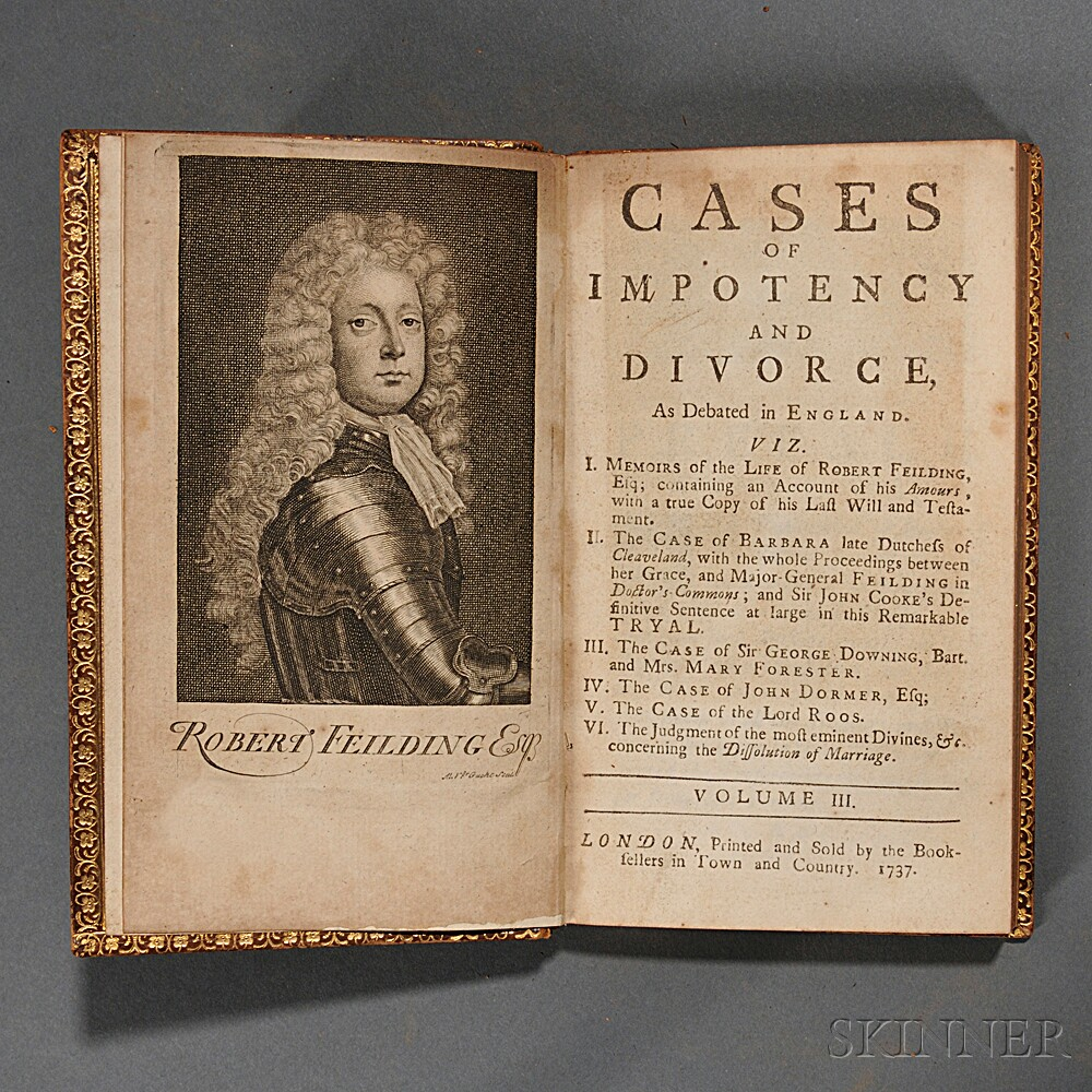 Abbot, George (1562-1633) Cases of Impotency and Divorce, as Debated in England, In that remarkable Tryal, 1613. between Robert Earl of