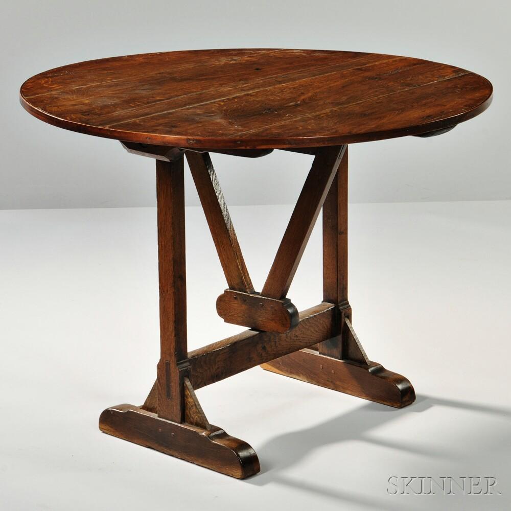 Oak Vintner's Table