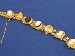 Victorian-style Carved Cameo Slide Bracelet.