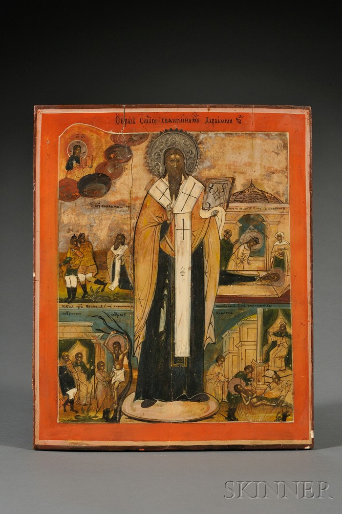 Russian Icon of St. Haralampi
