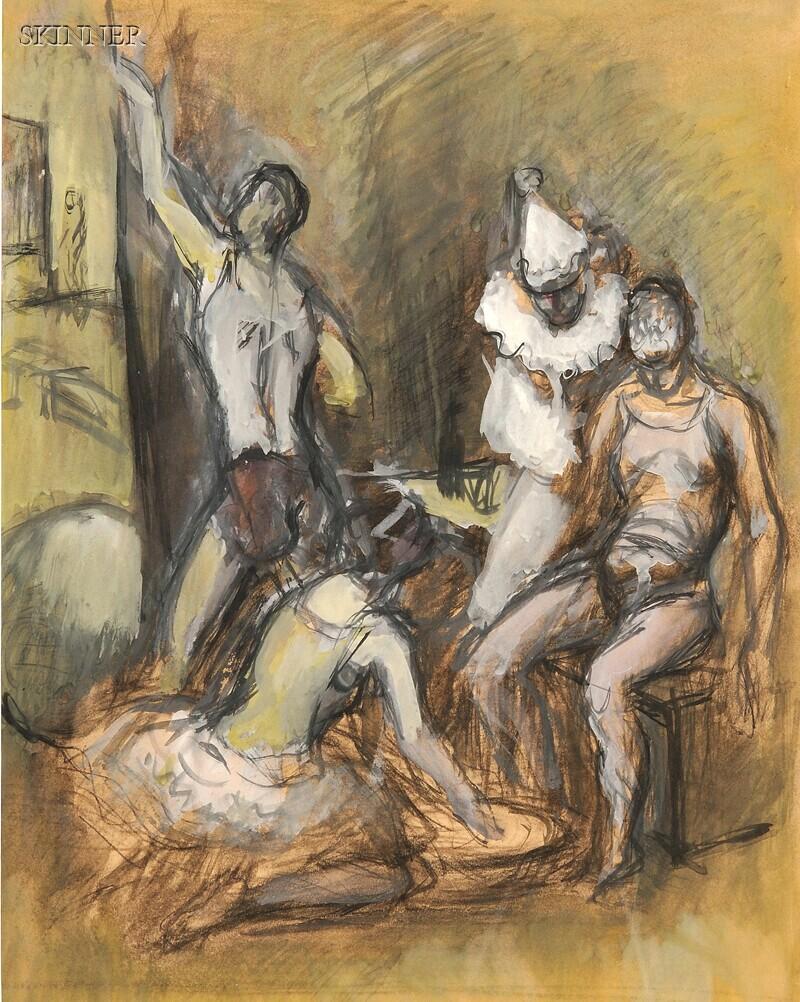 Simka Simkhovitch (Russian/American, 1893-1949)      Circus Study