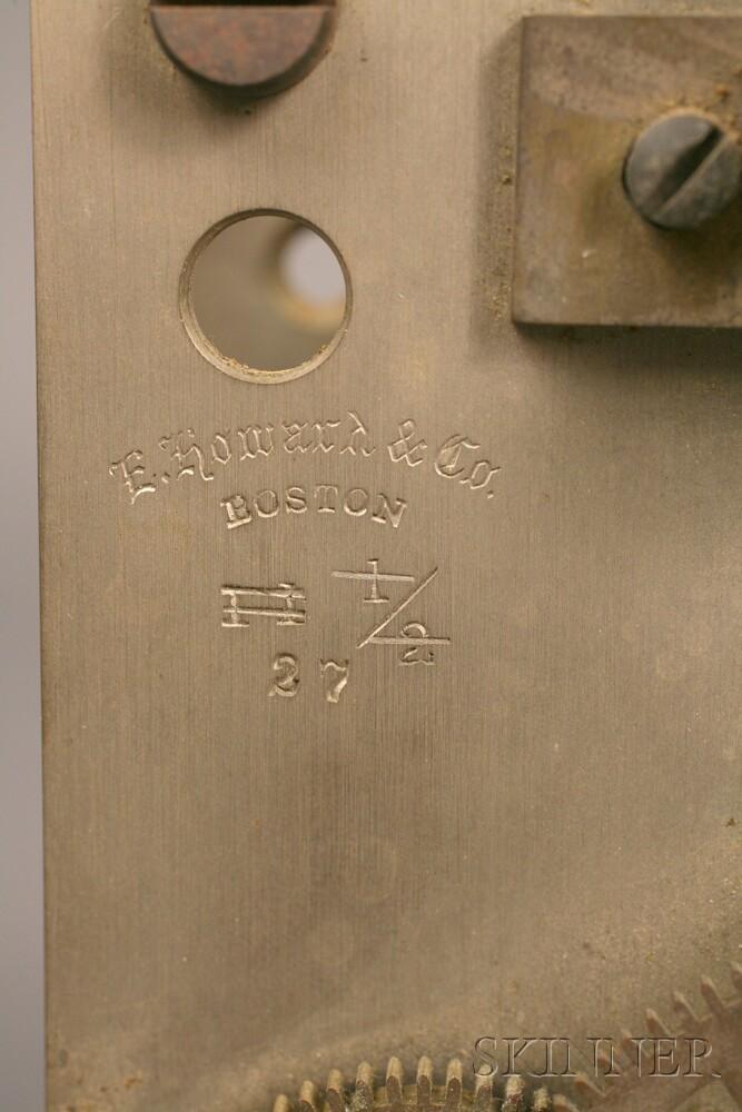 Two E. Howard & Company Zinc Wall Clock Movements