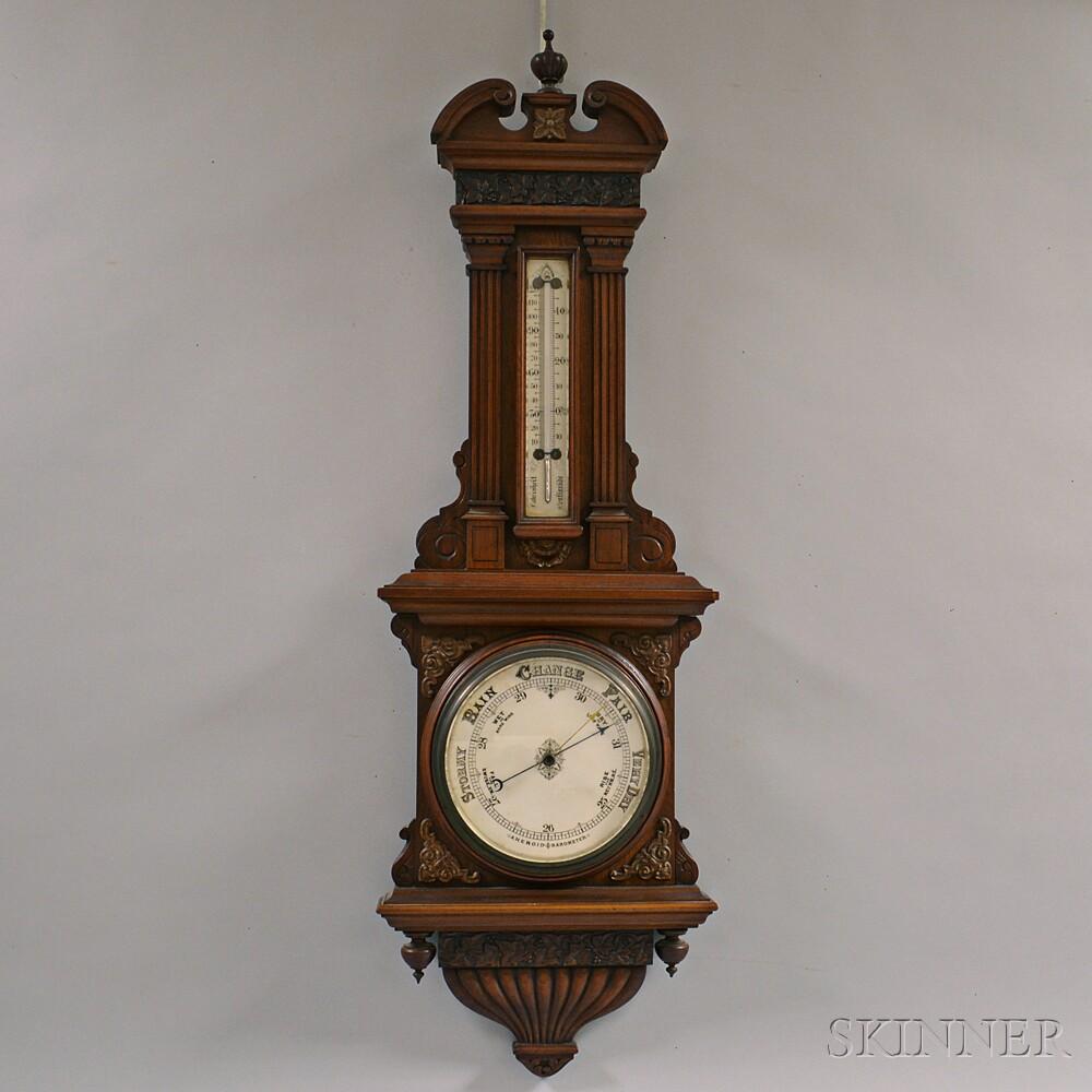 O. Comitti & Son Victorian Aneroid Barometer