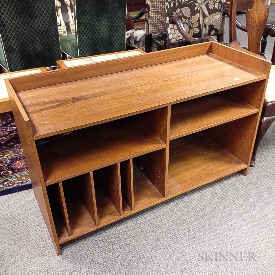 Contemporary Teak Veneer Cabinet