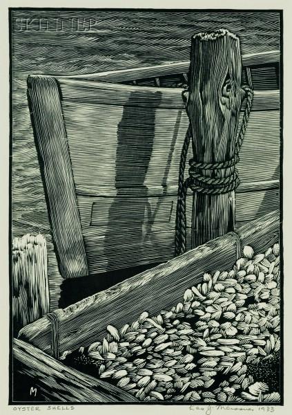 Lot of Four Prints:      Leo John Meissner (American, 1895-1977), Oyster Shells