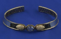 18kt Gold, Tanzanite, and Diamond Necklace